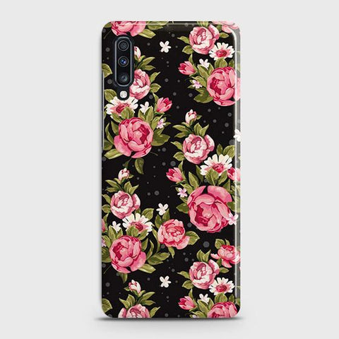 Trendy Pink Rose Vintage Flowers Case For Samsung Galaxy A70