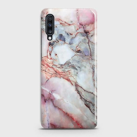 Violet Sky Marble 3D Trendy Case For Samsung Galaxy A70