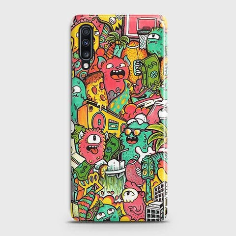 Candy Colors Trendy Sticker Bomb Case For Samsung Galaxy A70