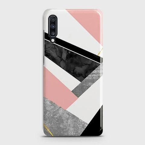 Geometric Luxe Marble Trendy Case For Samsung Galaxy A70