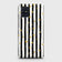 Trendy Black & White Strips With Golden Hearts Hard Case For Samsung Galaxy A71