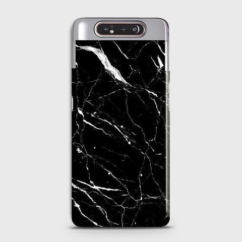 Trendy Black Marble Case For Samsung Galaxy A80