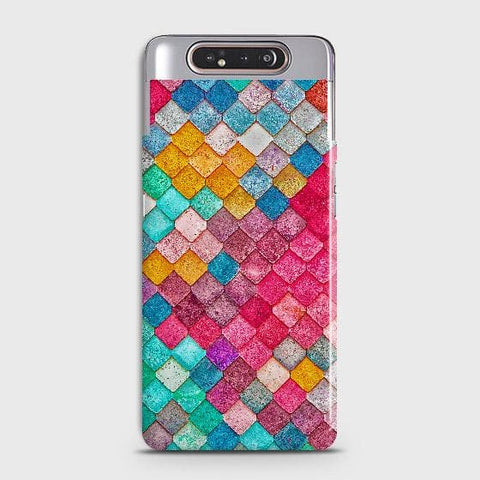 Chic Colorful Mermaid 3D Case For Samsung Galaxy A80