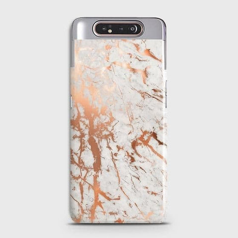 3D Print in Chic Rose Gold Chrome Style Case For Samsung Galaxy A80