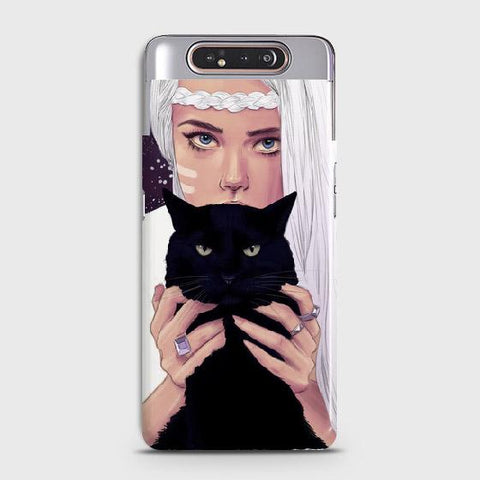 Trendy Wild Black Cat Case For Samsung Galaxy A80