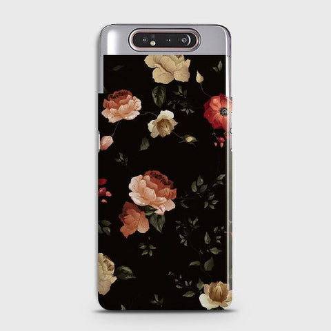 Dark Rose Vintage Flowers 3D Print Case For Samsung Galaxy A80