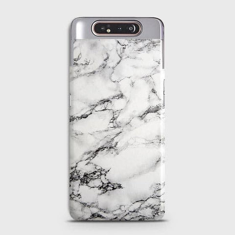 Trendy White Floor Marble Case For Samsung Galaxy A80