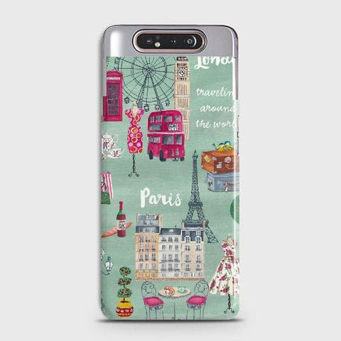 London, Paris, New York Modern Case For Samsung Galaxy A80