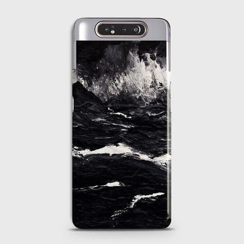 3D Black Ocean Marble Trendy Case For Samsung Galaxy A80