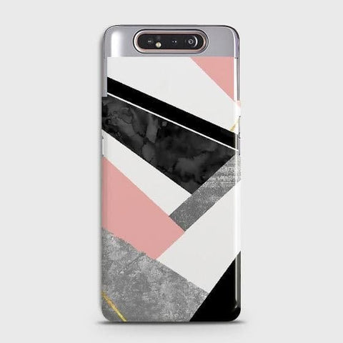 Geometric Luxe Marble Trendy Case For Samsung Galaxy A80