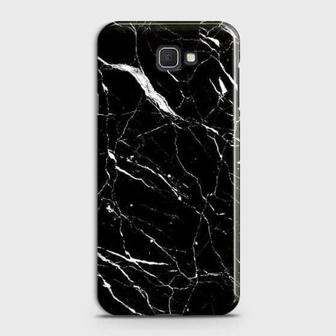 Samsung Galaxy J4 Core Cover - Trendy Black Marble Printed Hard Case with Life Time Colors Guarantee
