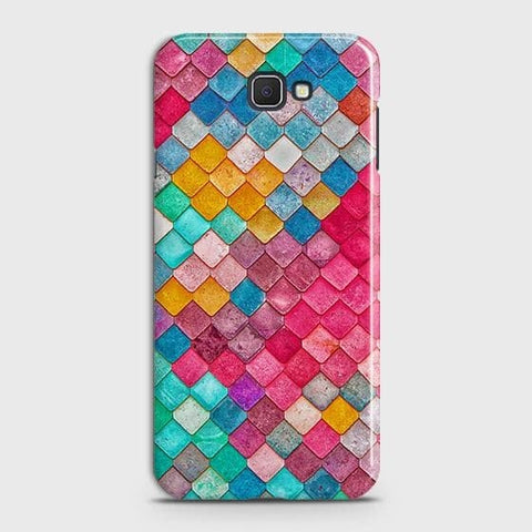 Samsung Galaxy J4 Core Cover - Chic Colorful Mermaid Printed Hard Case with Life Time Colors Guarantee