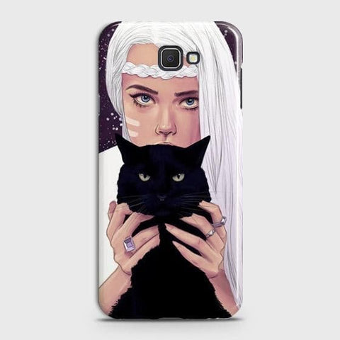 Trendy Wild Black Cat Case For Samsung Galaxy J4 Core