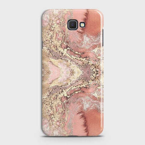 Samsung Galaxy J4 Core Cover - Trendy Chic Rose Gold Marble Printed Hard Case with Life Time Colors Guarantee