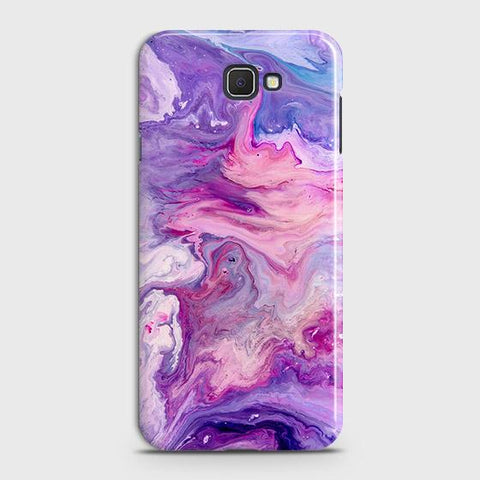 Samsung Galaxy J4 Core Cover - Chic Blue Liquid Marble Printed Hard Case with Life Time Colors Guarantee
