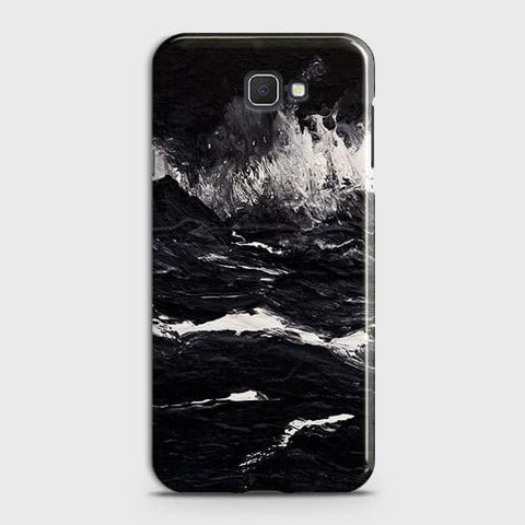 Samsung Galaxy J4 Core Cover - Black Ocean Marble Trendy Printed Hard Case with Life Time Colors Guarantee