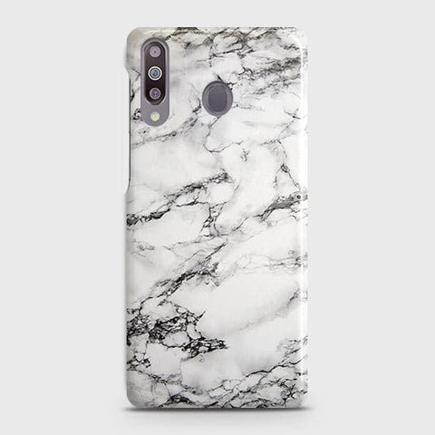 Trendy White Floor Marble Case For Samsung Galaxy M30