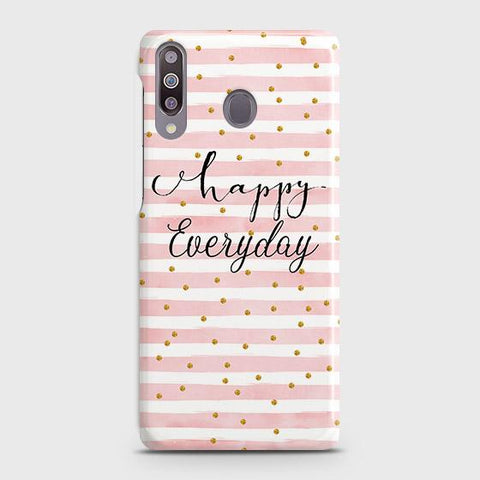 Samsung Galaxy M30 Cover - Trendy Happy Everyday Printed Hard Case with Life Time Colors Guarantee