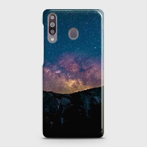 Samsung Galaxy M30 Cover - Embrace Dark Galaxy  Trendy Printed Hard Case with Life Time Colors Guarantee