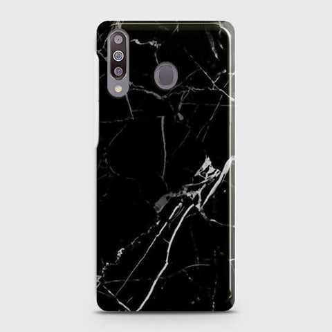 Samsung Galaxy M30 Cover - Black Modern Classic Marble Printed Hard Case with Life Time Colors Guarantee