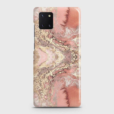 Trendy Chic Rose Gold Marble 3D Case For Samsung Galaxy Note 10 Lite