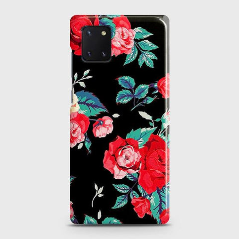Luxury Vintage Red Flowers Case For Samsung Galaxy Note 10 Lite