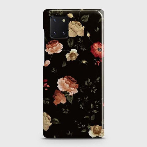 Dark Rose Vintage Flowers 3D Print Case For Samsung Galaxy Note 10 Lite