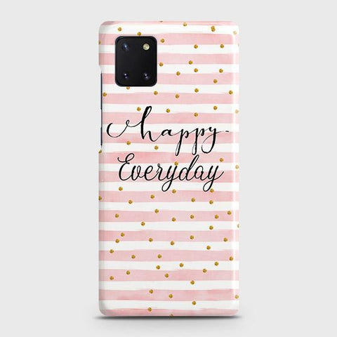 Samsung Galaxy Note 10 Lite Cover - Trendy Happy Everyday Printed Hard Case with Life Time Colors Guarantee