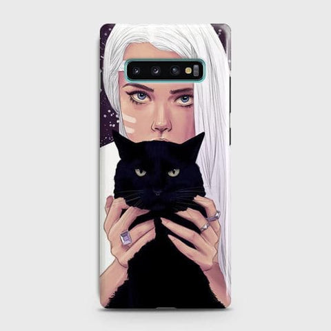 Trendy Wild Black Cat Case For Samsung Galaxy S10 Plus