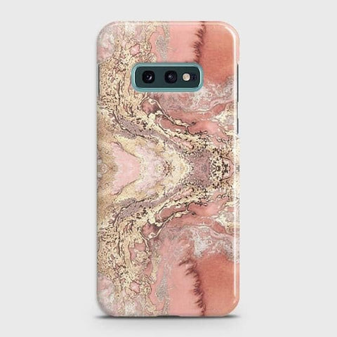 Trendy Chic Rose Gold Marble 3D Case For Samsung Galaxy S10e