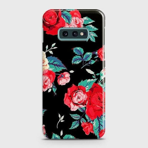 Luxury Vintage Red Flowers Case For Samsung Galaxy S10e