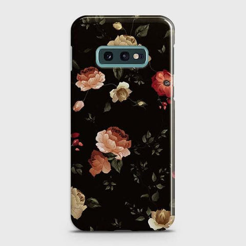 Dark Rose Vintage Flowers 3D Print Case For Samsung Galaxy S10e