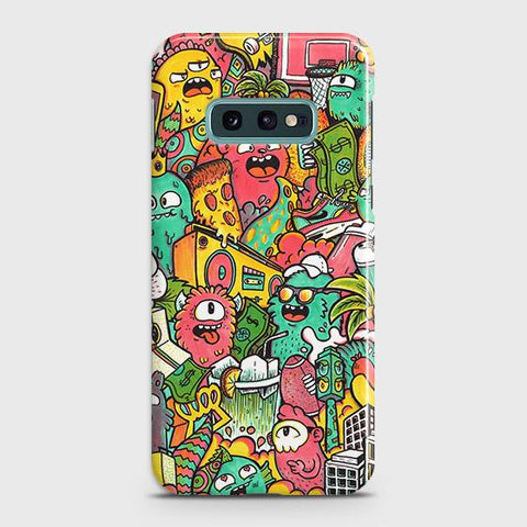Candy Colors Trendy Sticker Bomb Case For Samsung Galaxy S10e