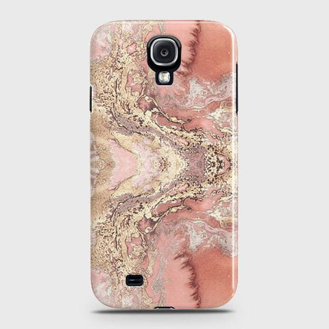Trendy Chic Rose Gold Marble 3D Case For Samsung Galaxy S4