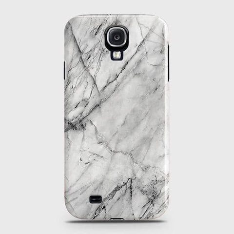 Samsung Galaxy S4 Cover - Trendy White Floor Marble Printed Hard Case with Life Time Colors Guarantee