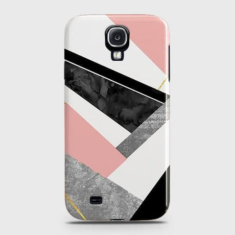 Samsung Galaxy S4 Cover - Geometric Luxe Marble Trendy Printed Hard Case with Life Time Colors Guarantee