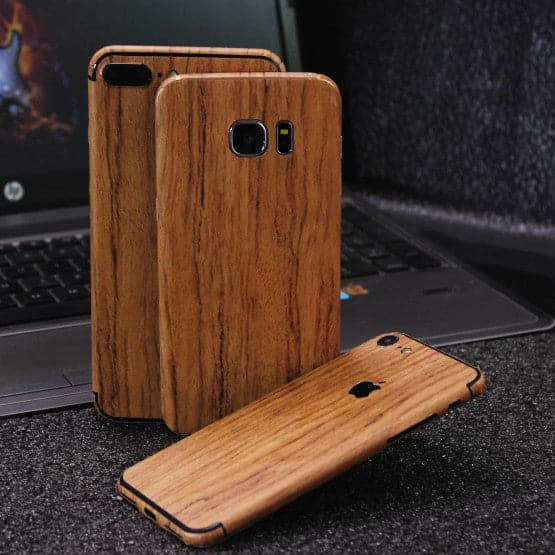 Wood Material Vinyl Phone Skin For Samsung Galaxy A6 Plus 2018 - Sandal Wood