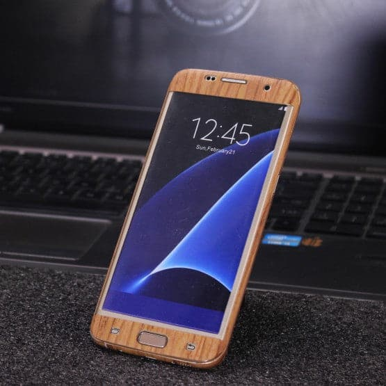 Wood Material Vinyl Phone Skin For Samsung C5 - Sandal Wood