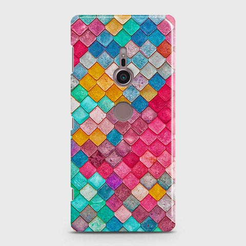 Chic Colorful Mermaid 3D Case For Sony Xperia XZ3