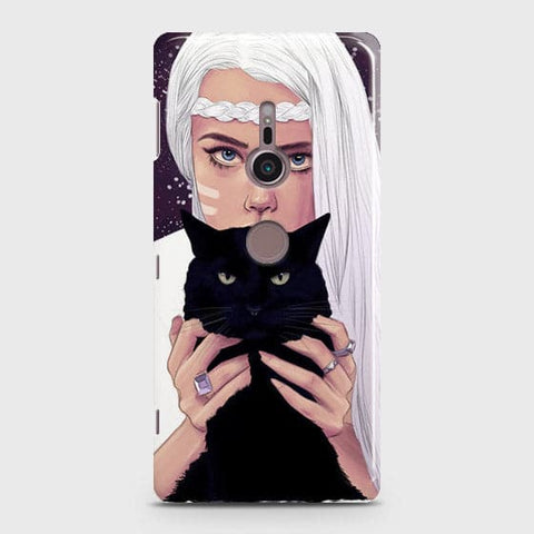 Trendy Wild Black Cat Case For Sony Xperia XZ3