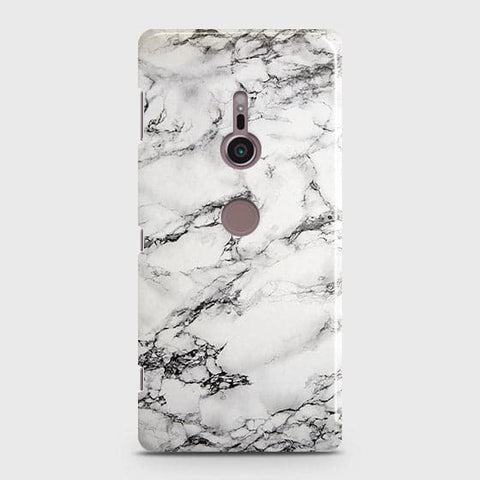 Trendy White Floor Marble Case For Sony Xperia XZ3