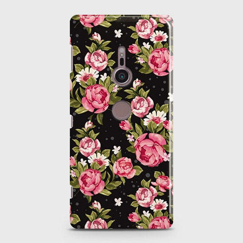 Trendy Pink Rose Vintage Flowers Case For Sony Xperia XZ3
