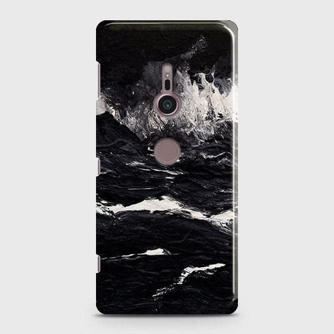 3D Black Ocean Marble Trendy Case For Sony Xperia XZ3
