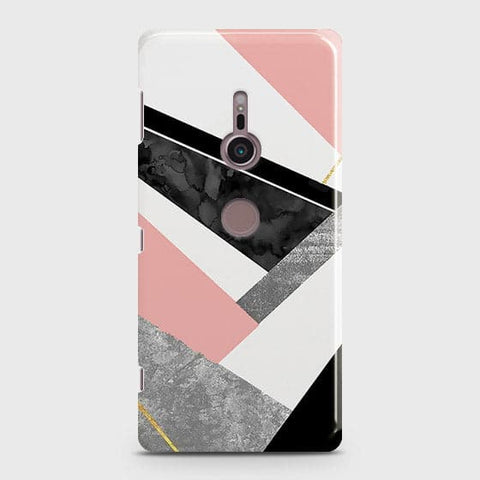 Geometric Luxe Marble Trendy Case For Sony Xperia XZ3