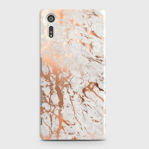 3D Print in Chic Rose Gold Chrome Style Case For Sony Xperia XZ