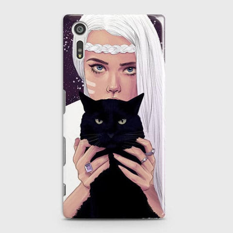 Trendy Wild Black Cat Case For Sony Xperia XZ