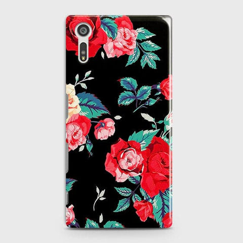 Luxury Vintage Red Flowers Case For Sony Xperia XZ