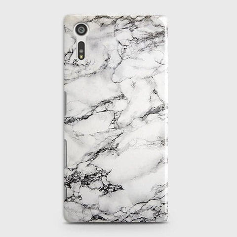Trendy White Floor Marble Case For Sony Xperia XZ