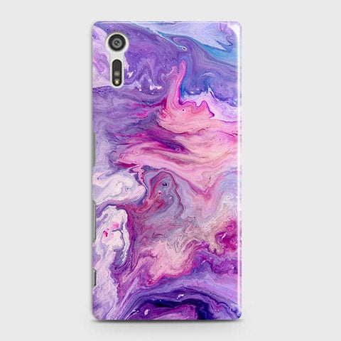 3D Chic Blue Liquid Marble Case For Sony Xperia XZ
