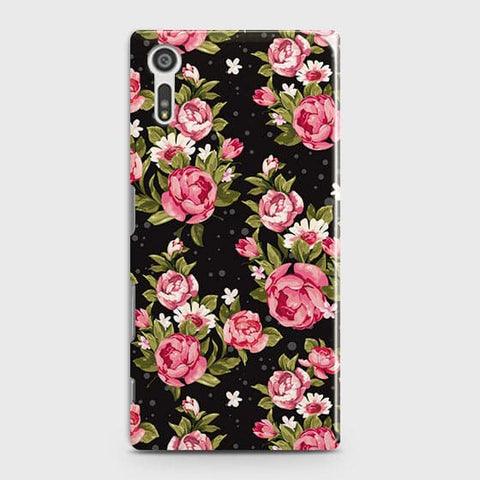 Trendy Pink Rose Vintage Flowers Case For Sony Xperia XZ